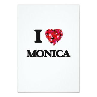I Love Monica 3.5x5 Paper Invitation Card
