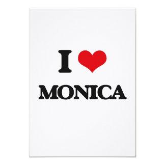 I Love Monica 5x7 Paper Invitation Card