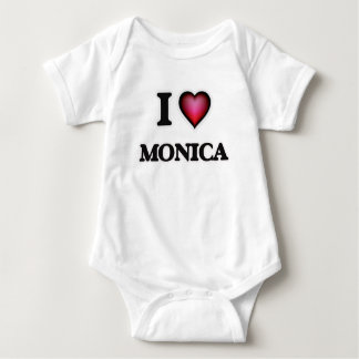 I Love Monica Baby Bodysuit