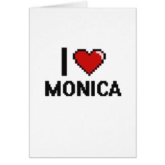 I Love Monica Digital Retro Design Greeting Card