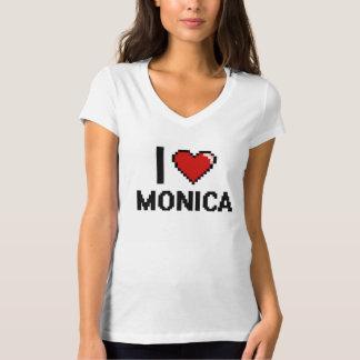 I Love Monica Digital Retro Design Tee Shirt