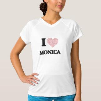 I love Monica (heart made from words) design Shirt