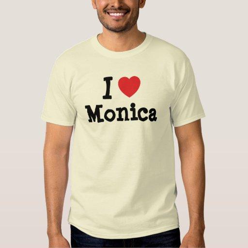 I love Monica heart T-Shirt