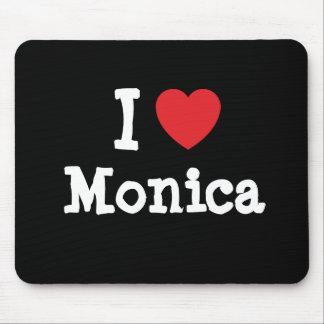 I love Monica heart T-Shirt Mouse Mats