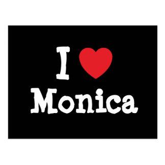 I love Monica heart T-Shirt Postcards