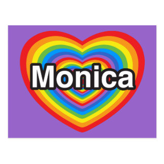 I love Monica. I love you Monica. Heart Postcard