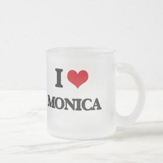 I Love Monica 10 Oz Frosted Glass Coffee Mug