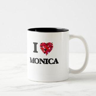 I Love Monica Two-Tone Coffee Mug