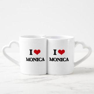 I Love Monica Couples' Coffee Mug Set