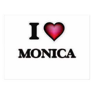 I Love Monica Postcard