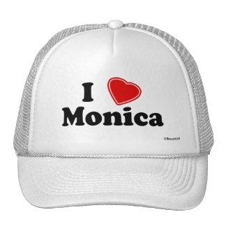 I Love Monica Trucker Hat