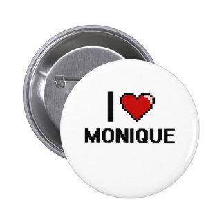 I Love Monique Digital Retro Design 2 Inch Round Button