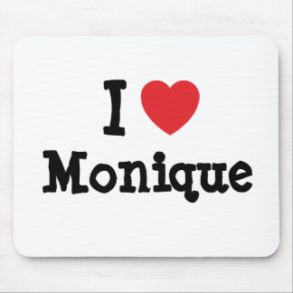I love Monique heart T-Shirt Mouse Mats