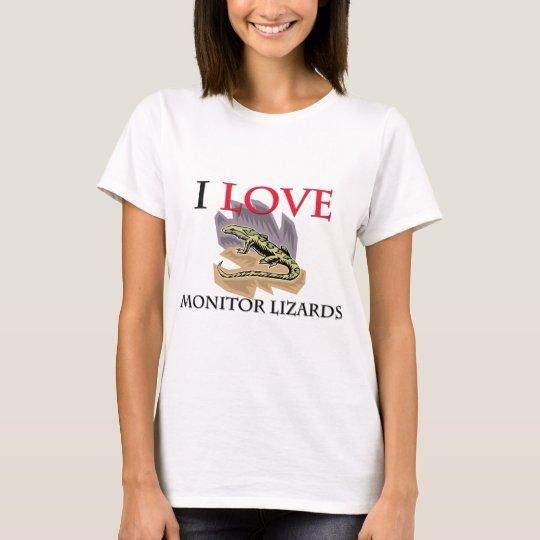 I Love Monitor Lizards T-Shirt
