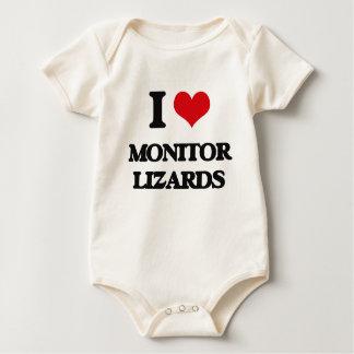 I love Monitor Lizards Baby Bodysuits