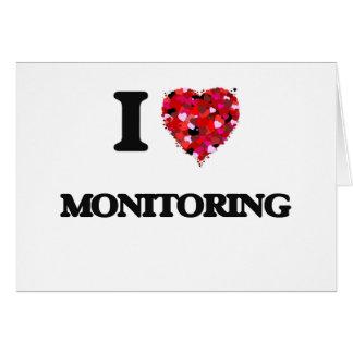 I Love Monitoring Greeting Card