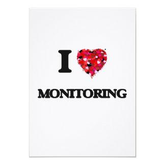 I Love Monitoring 5x7 Paper Invitation Card