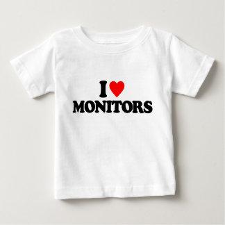 I LOVE MONITORS TEE SHIRTS