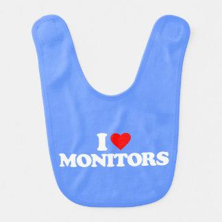 I LOVE MONITORS BABY BIB