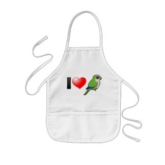 I Love Monk Parakeets Kids' Apron