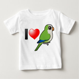 I Love Monk Parakeets Baby T-Shirt