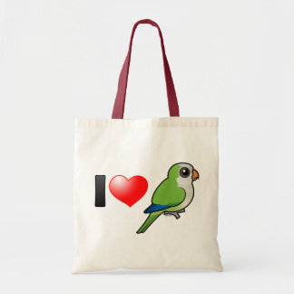 I Love Monk Parakeets Budget Tote Bag