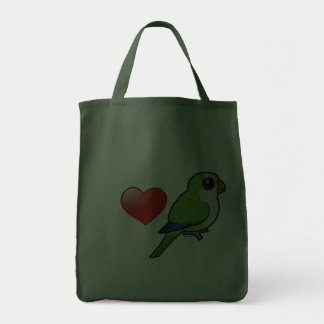 I Love Monk Parakeets Grocery Tote Bag