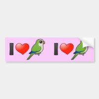 I Love Monk Parakeets Bumper Sticker