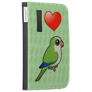 I Love Monk Parakeets Kindle Cases