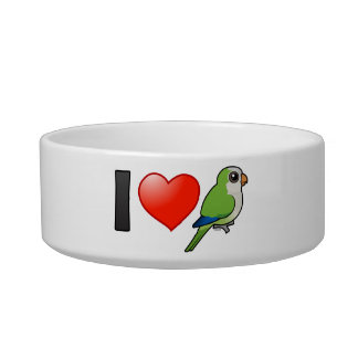 I Love Monk Parakeets Pet Bowl