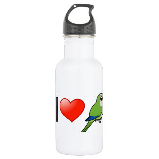 I Love Monk Parakeets 18oz Water Bottle