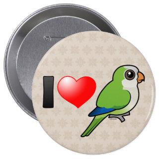 I Love Monk Parakeets Pinback Button