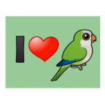 I Love Monk Parakeets Postcard