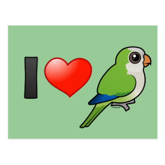 I Love Monk Parakeets Postcard