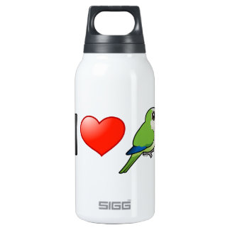 I Love Monk Parakeets 10 Oz Insulated SIGG Thermos Water Bottle