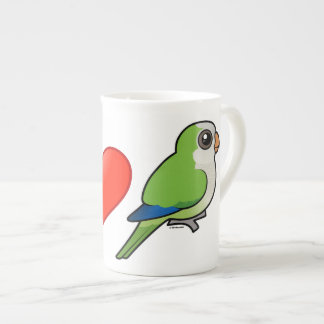 I Love Monk Parakeets Tea Cup