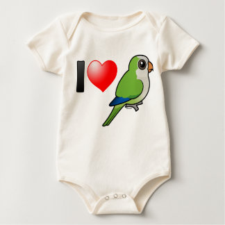 I Love Monk Parakeets Rompers