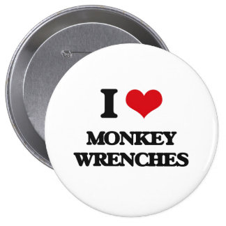 I Love Monkey Wrenches Pins