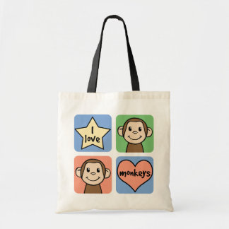 I Love Monkeys Bags