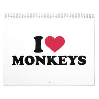 I love Monkeys Calendar