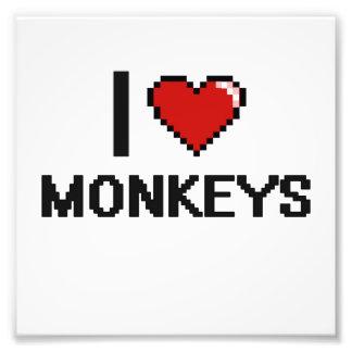 I love Monkeys Digital Design Photo Print