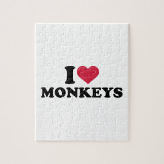 I love Monkeys Jigsaw Puzzle