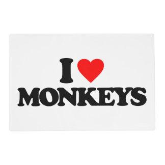 I LOVE MONKEYS PLACEMAT