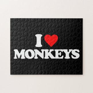 I LOVE MONKEYS JIGSAW PUZZLES