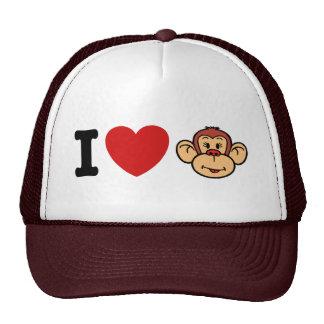 I Love Monkeys Trucker Hat