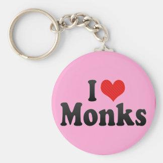 I Love Monks Basic Round Button Keychain