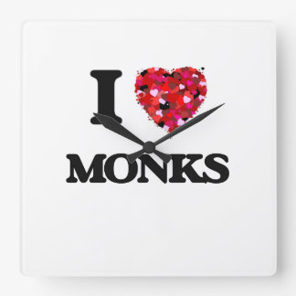 I love Monks Square Wall Clock
