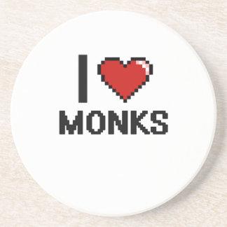 I love Monks Drink Coaster
