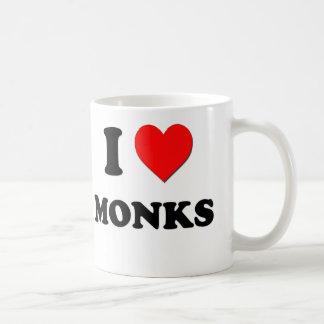 I Love Monks Classic White Coffee Mug