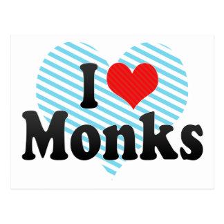I Love Monks Postcard